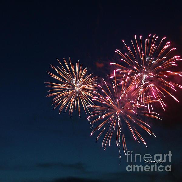 Fireworks Series Vi Print by Suzanne Gaff