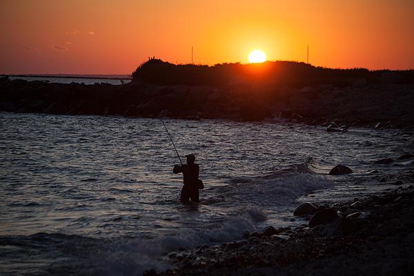 Karol  Livote - Fishing At Sunset
