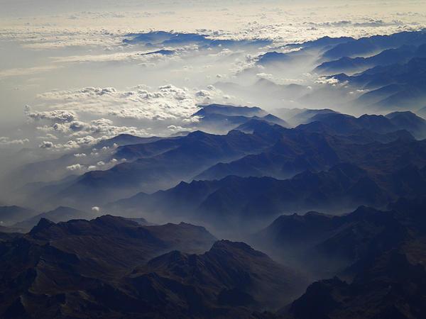 Colette V Hera  Guggenheim  - Flying over the Alps in Europe