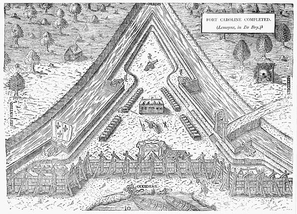 Fort Caroline, 1564 Print by Granger