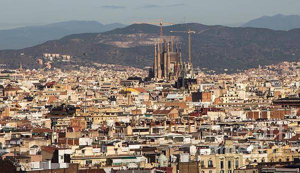 Gaudi La Sagrada Familia Barcelona  Print by Rene Triay Photography