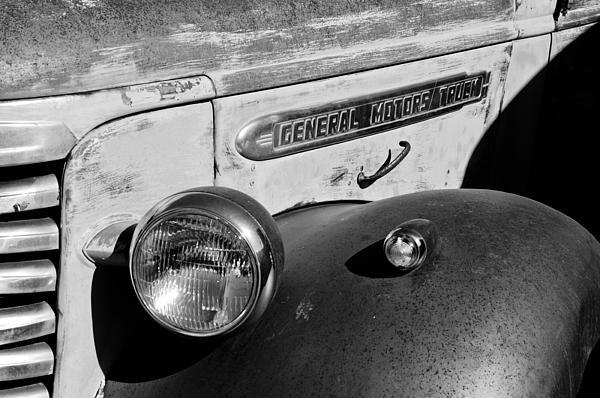 Gmc Truck Side Emblem Print by Jill Reger