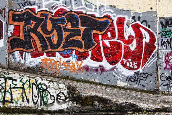 Graffiti Print by Carol Leigh
