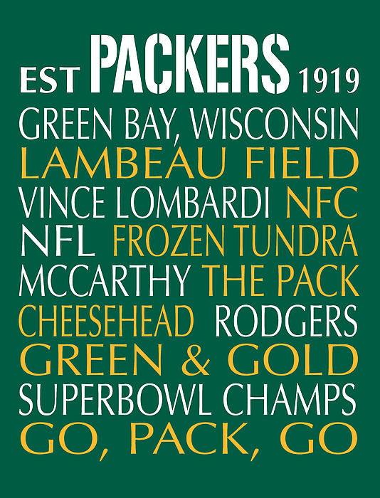 Green Bay Packers Print by Jaime Friedman