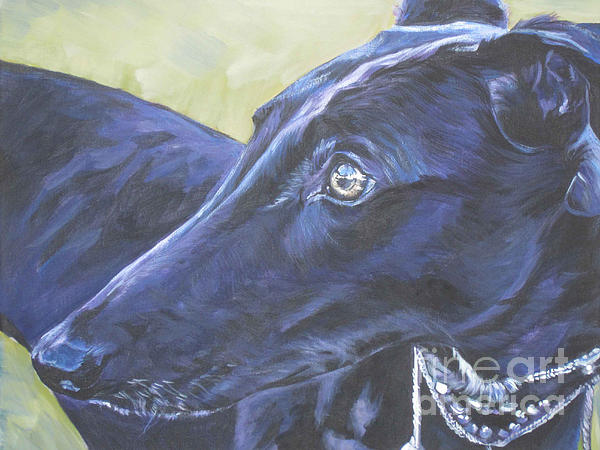 Greyhound Print by Lee Ann Shepard