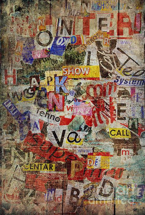 Grunge Textured Background Print by Jelena Jovanovic