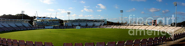 Hampshire County Cricket Ground Print by Terri  Waters