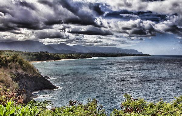 Hawaii Big Island Coastline V2 Print by Douglas Barnard