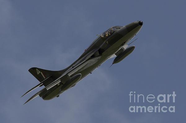 Hawker Hunter Print by J Biggadike