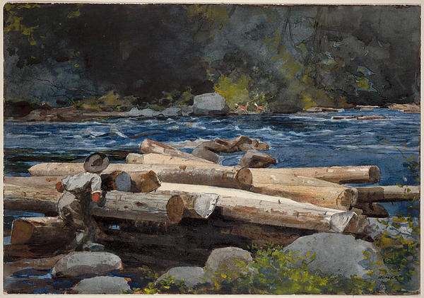 Hudson River Print by Winslow Homer