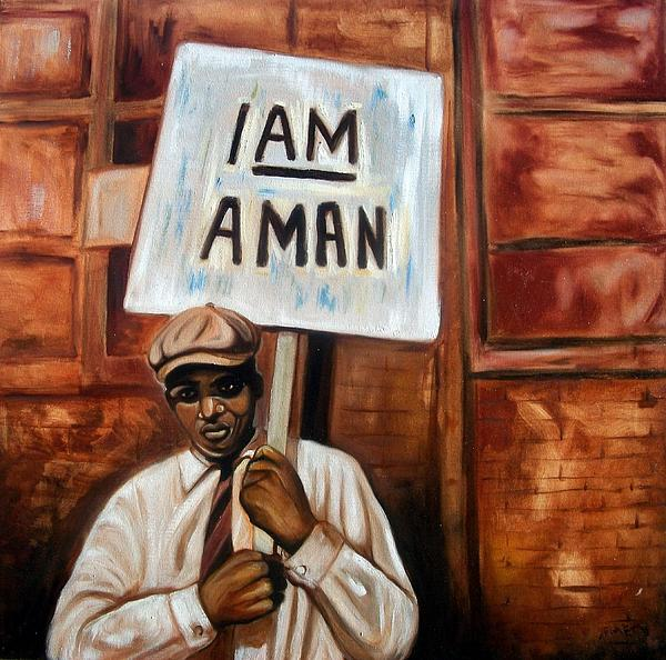 I Am A Man Print by Emery Franklin