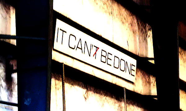 It Can Be Done Print by Mark Moore