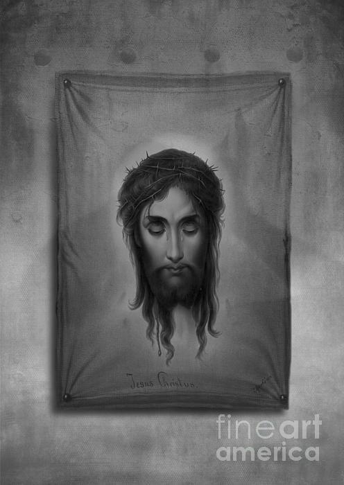 Jesus Christus Print by Edward Fielding