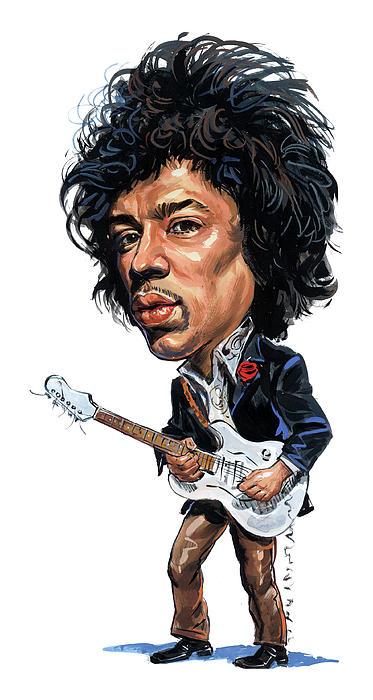 Jimi Hendrix Print by Art