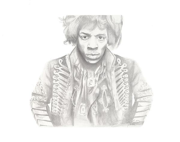 Jimi Hendrix Print by Don Medina