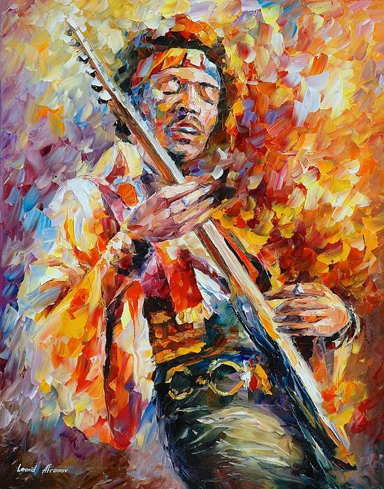 Jimi Hendrix Print by Leonid Afremov