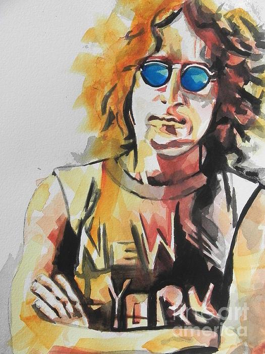 John Lennon 04 Print by Chrisann Ellis