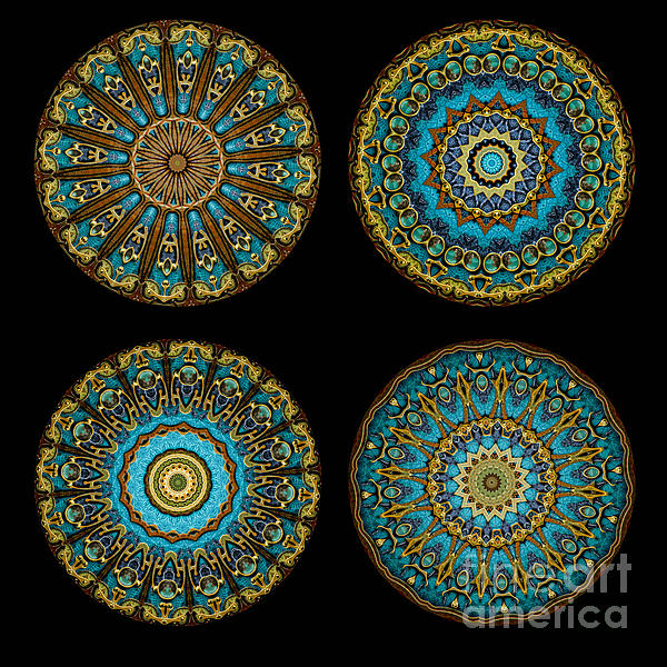 Kaleidoscope Steampunk Series Montage Print by Amy Cicconi