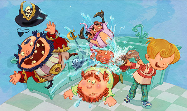 Kitchen Pirates Print by Andy Catling