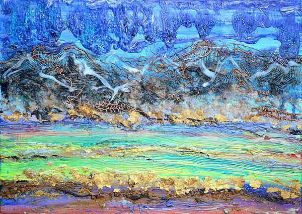 Landscape Layers Print by Regina Valluzzi