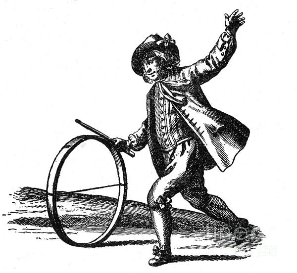 Le Jeu Du Cerceau, Hoop Rolling, 18th Print by Photo Researchers