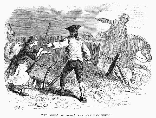 Lexington: Minutemen, 1775 Print by Granger