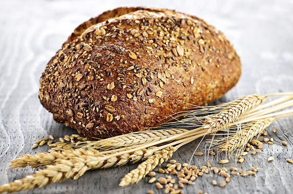 Loaf Of Multigrain Bread Print by Elena Elisseeva