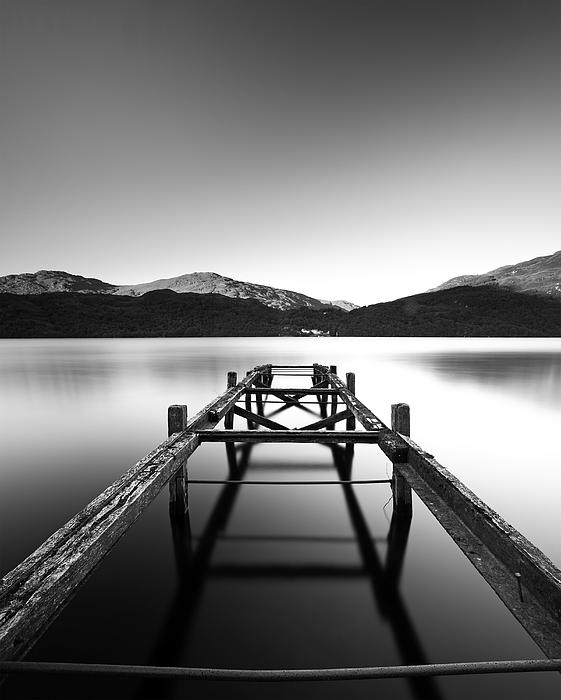 Loch Lomond Jetty Print by Grant Glendinning