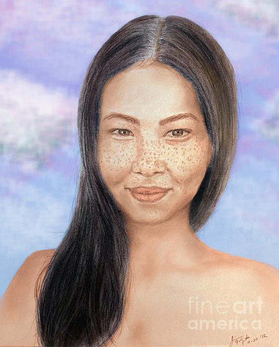 Jim Fitzpatrick - Long Haired Natural Asian Beauty