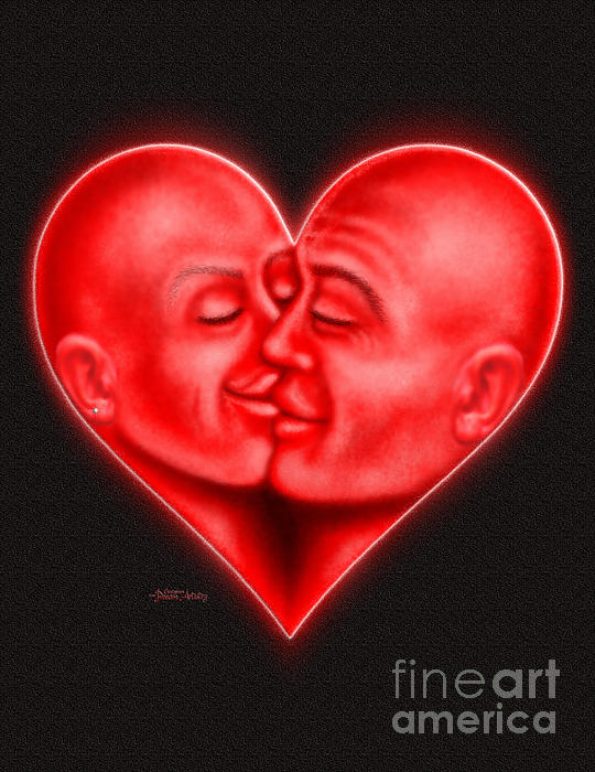Mad Love Print by Cristophers Dream Artistry