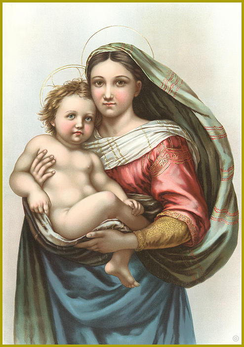 Madonna And Child Print by Gary Grayson