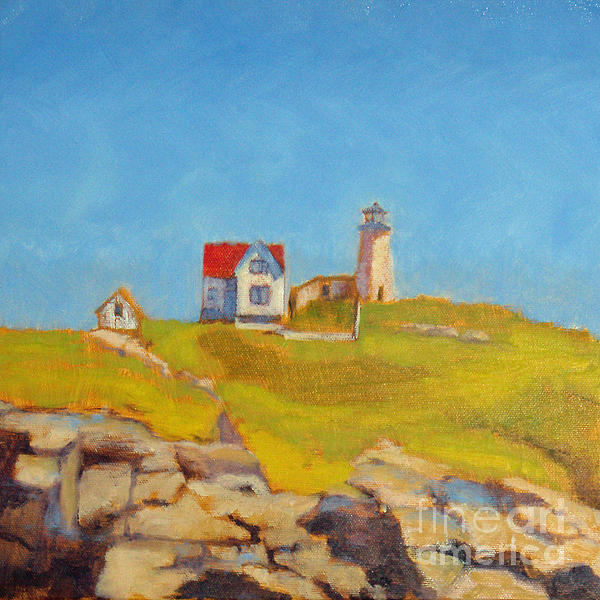 Maine Lighthouse Print by Jane Collins