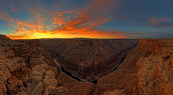 Marble Canyon Sunrise Print by  Reid Helms
