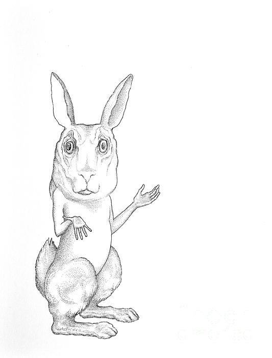 March Hare Print by Linda Baker-Cimini