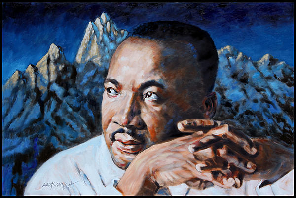 Martin Luther King Print by John Lautermilch