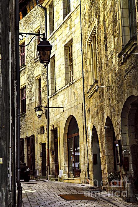 Medieval Street In France Print by Elena Elisseeva