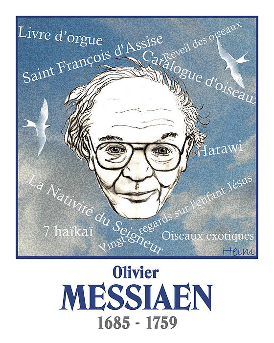 Messiaen Print by Paul Helm