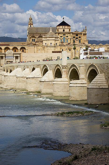 Mezquita And Roman Bridge In Cordoba Print by Artur Bogacki