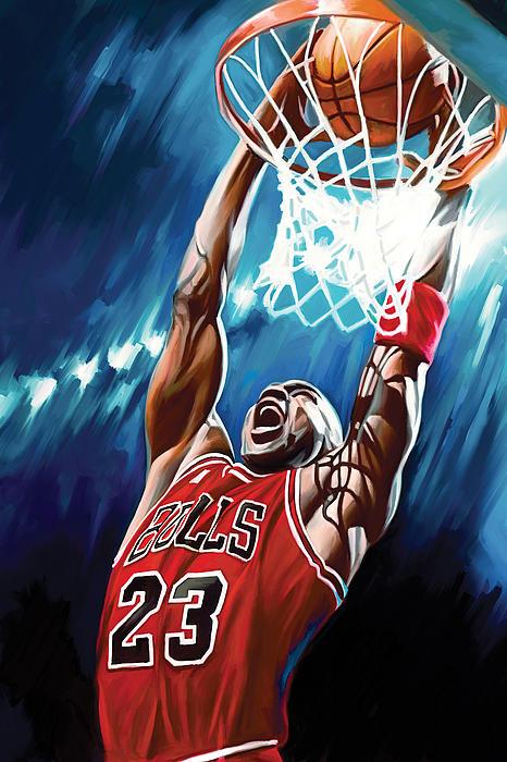 Michael Jordan Artwork Print by Sheraz A