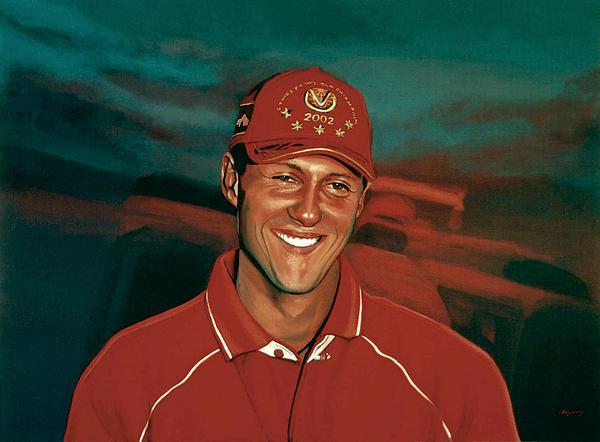 Michael Schumacher Print by Paul Meijering