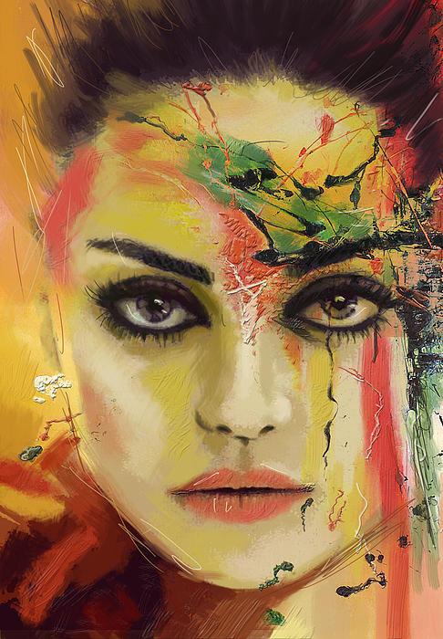 Mila Kunis  Print by Corporate Art Task Force