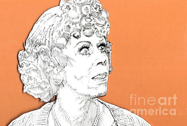momma on Orange Print by Jason Tricktop Matthews