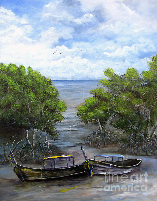 Sharon Burger - Moored Among The Mangroves