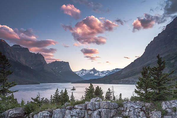 Morning Colors On The Lake Print by Jon Glaser