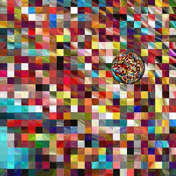 #1 Mosaic Series Print by George Curington