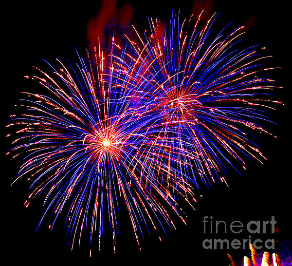 Most Spectacular Fireworks Selection - Worldwide Championship - Montreal Print by Emma Lambert
