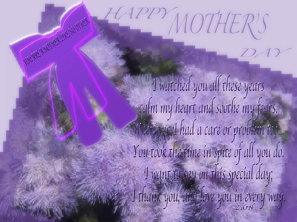 Mothers Day Card Print by Debra     Vatalaro