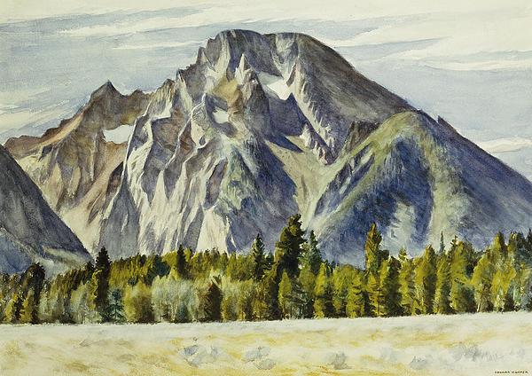 Mount Moran Print by Edward Hopper