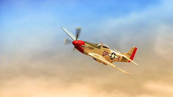 Mustang P51 Print by Johan Combrink
