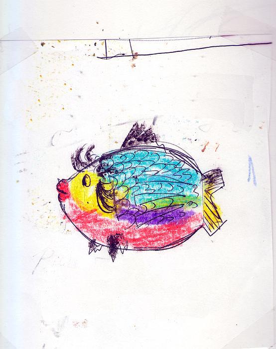 My Best Fish Friend  Print by Nebojsa Jovanovic NESAART
